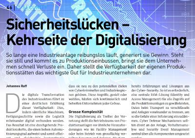 Sicherheitslücken – Kehrseite der Digitalisierung